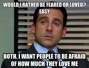 Michael Scott sounds similar enough to Michael Sam that this is okay.